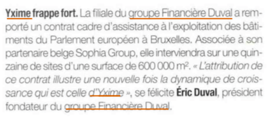 yxime groupe duval eric
