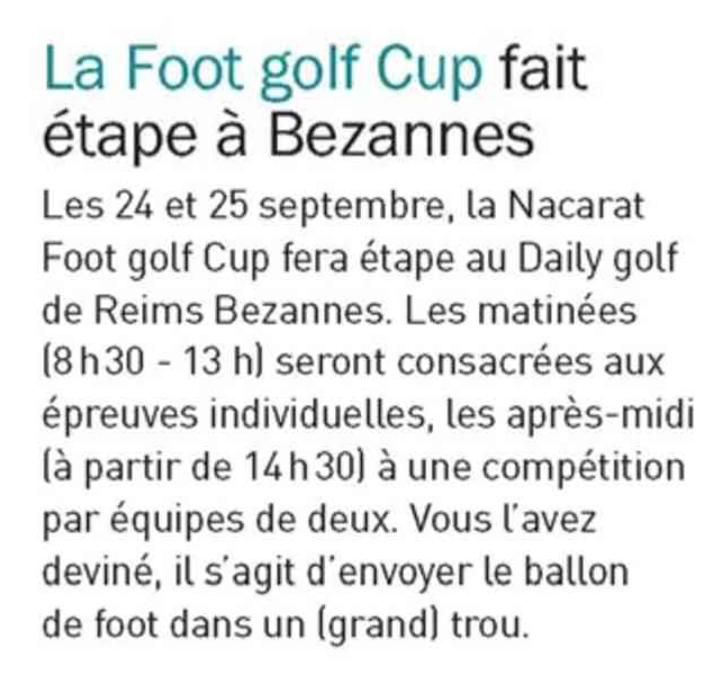 La Footgolf Cup fait étape à Bezannes #ngfgolf #groupeduval #golf